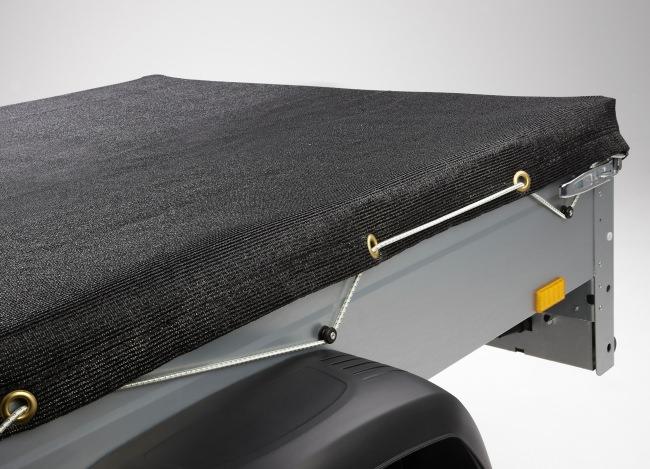Pritschenplane 2,50 x 2,70 m - schwarz | Schutznetze24