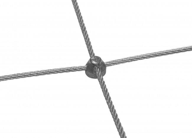 Stainless Steel Wire Rope Mesh with 3.0 mm Rope Diameter