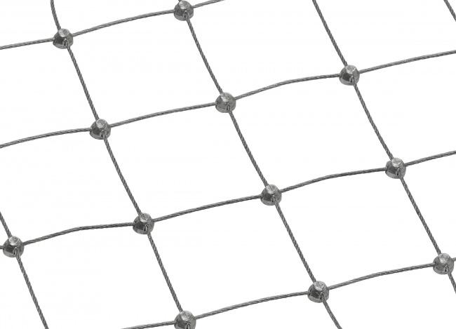 Schutznetz aus Edelstahl mit 50 mm Maschenweite