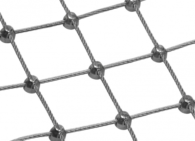 Tailor-made Wire Rope Netting with 4.0 mm Rope Diameter