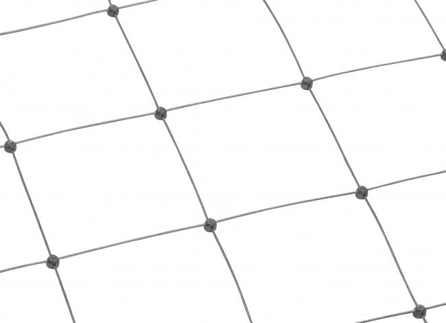 Stainless Steel Wire Rope Net by the m² with 125 mm Mesh Size