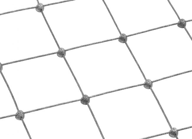 Schutznetz aus Stahl mit 75 mm Maschenweite