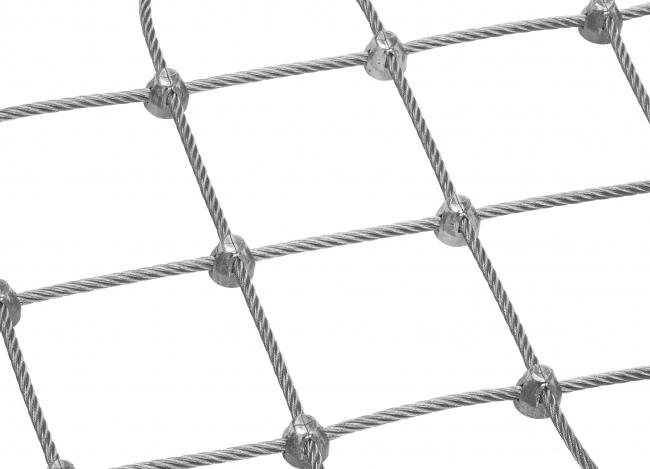 Schutznetz aus Stahl per m² mit 6,0 mm Materialstärke