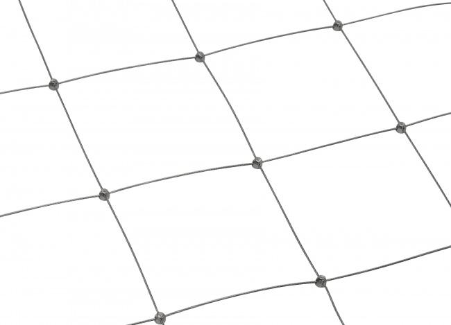 Stahldrahtnetz Edelstahl per m² mit 150 mm Maschenweite