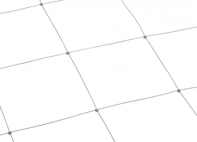 Stahldrahtnetz mit 250 mm Maschenweite | schutznetze24.de