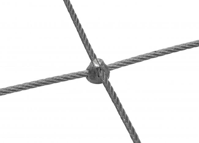 Stahldrahtseilnetz nach Maß mit 4,0 mm Materialstärke