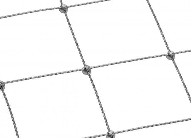 Stahlseilnetz per m² mit 5,0 mm Materialstärke