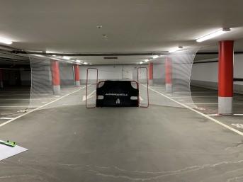 Ballfangnetz für Eishockey per m² (nach Maß), weiß | Schutznetze24