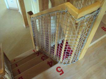 Treppenhaus-Sicherungsnetz per m² (nach Maß) | Schutznetze24