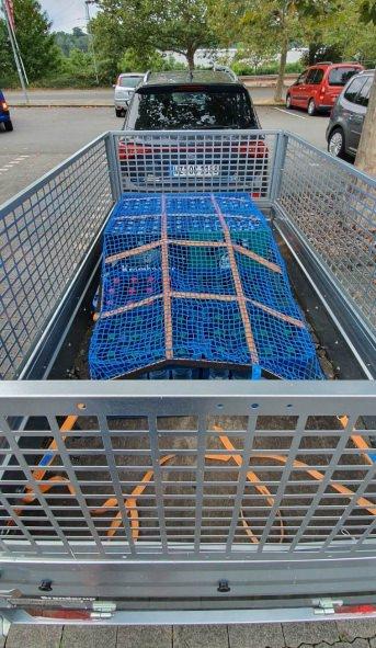 Gurtbandnetz (GS-geprüft) für Anhänger 1525 x 3025 mm - Komplettset | Schutznetze24