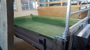 Containerabdecknetz 3,00 x 5,00 m (DEKRA), grün | Schutznetze24