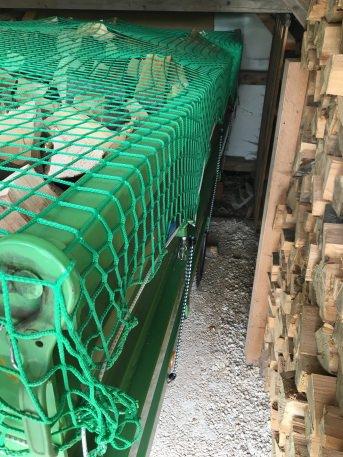 Container-Abdecknetz 3,00 x 5,00 m, blau oder grün | Schutznetze24