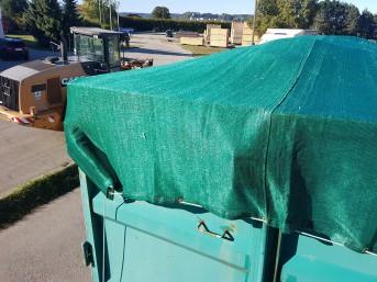 Container-Abdeckplane 3,00 x 8,00 m, dunkelgrün | Schutznetze24